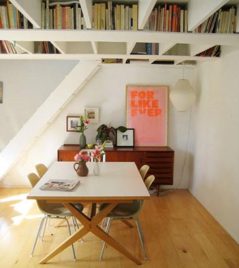 como decorar espacios pequeños. altillo