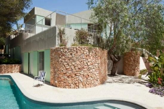 reforma de vivienda unifamiliar. casa baladrar.fachada piedra