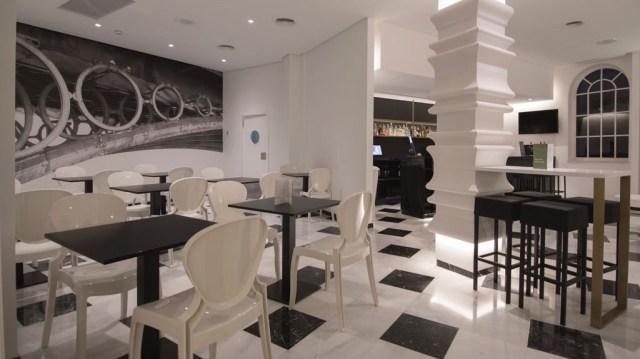 diseño de interiores hotel Monte Triana. bar comedor