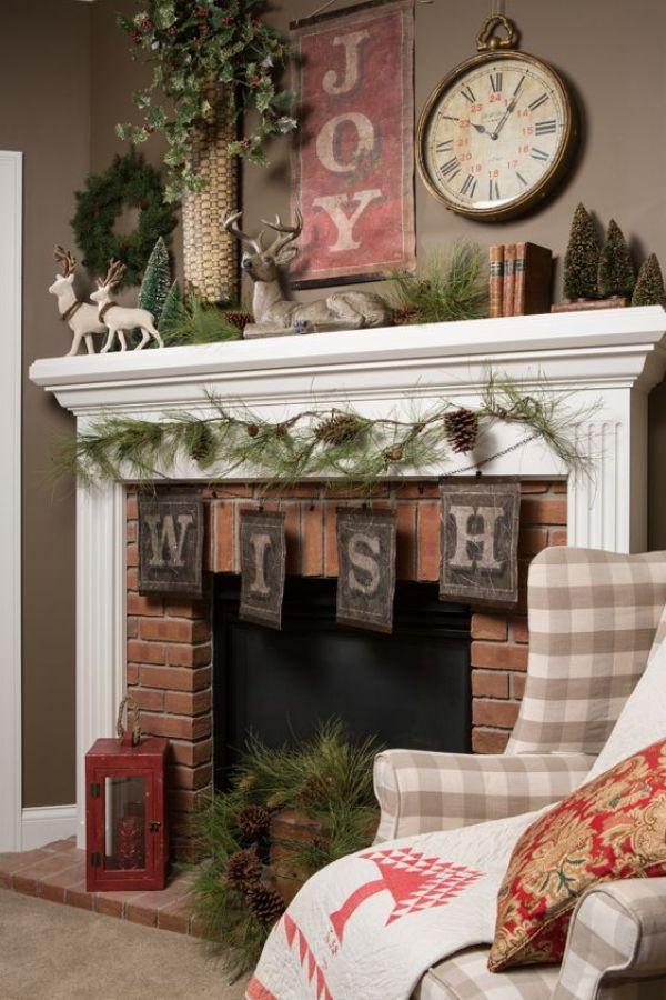 chimenea de navidad. decoración de navidad