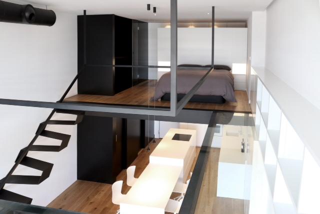 vista completa del apartamento loft