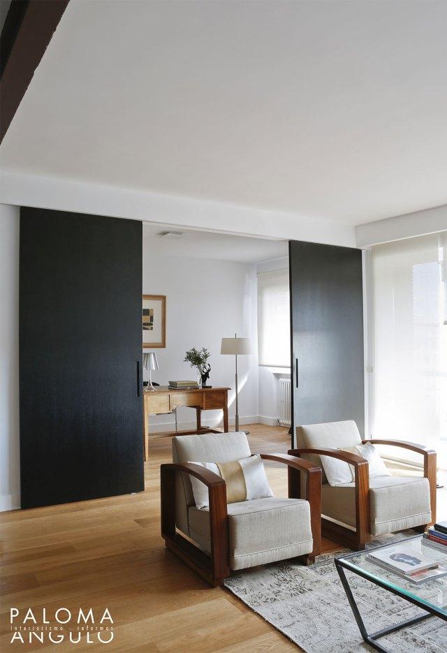 salón abierto para reformar una vivienda en Madrid