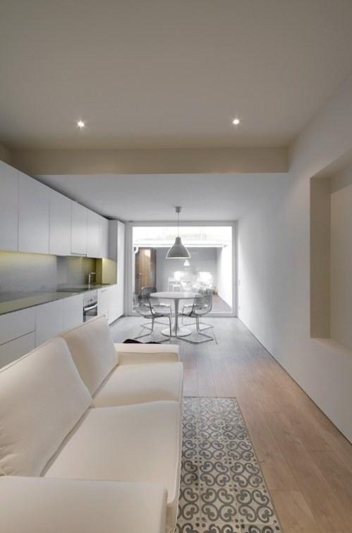 Salón comedor de loft de diseño