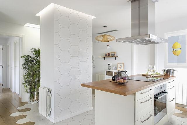 Revestimiento de suelo de cocina de estilo nórdico