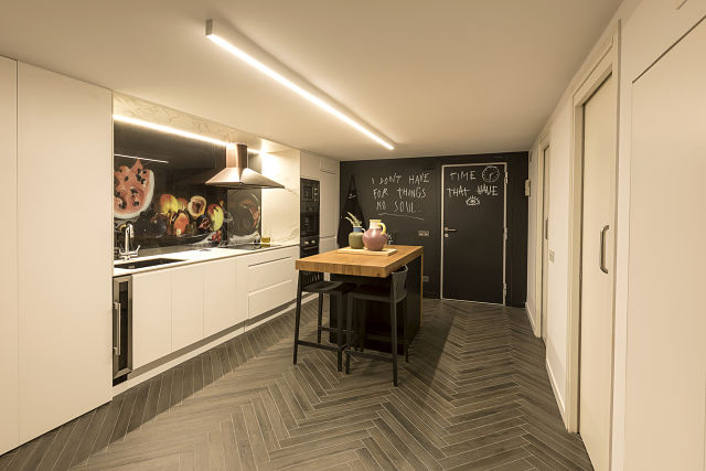 Entrada a un loft de diseño