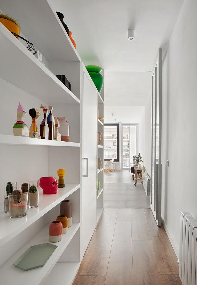 Entrada y pasillo en reforma de apartamento