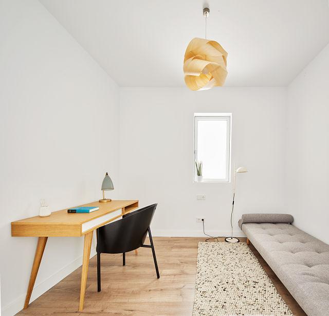 Dormitorio secundario en reforma de apartamento