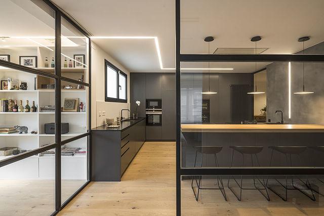 Idea interior de cerramiento de cocina