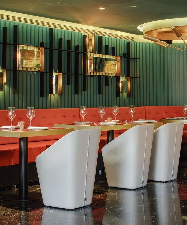 Detalle del mobiliario en interiorismo de hotel Marquis Issabel's