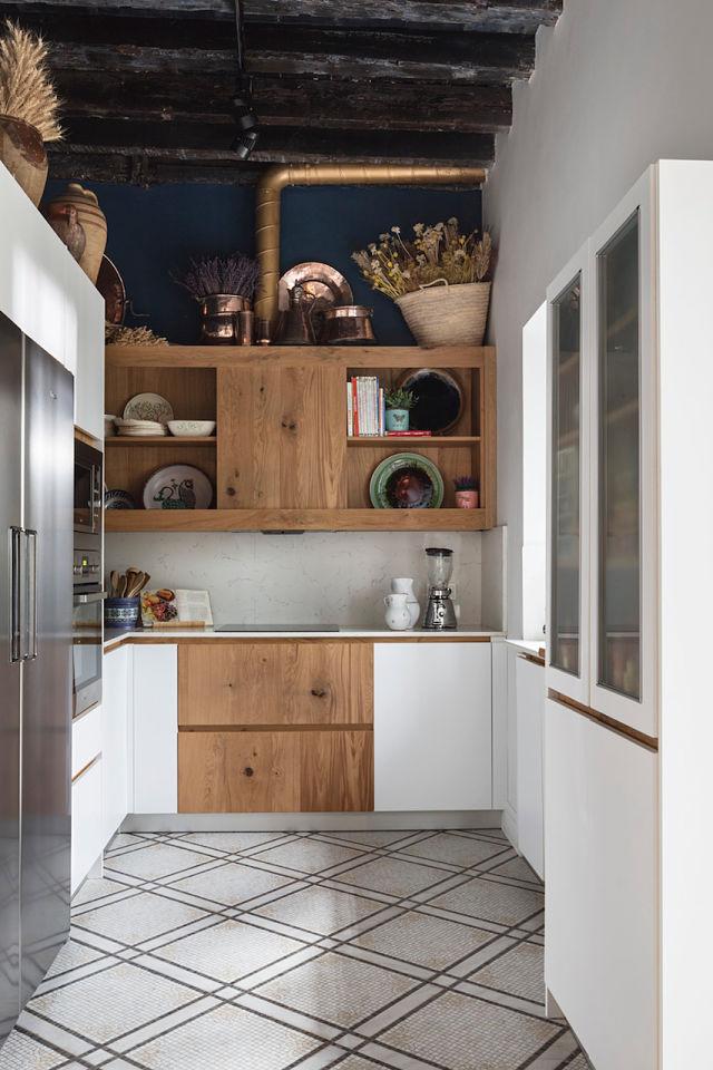 Diseño interior de cocina de un palacete en Córdoba