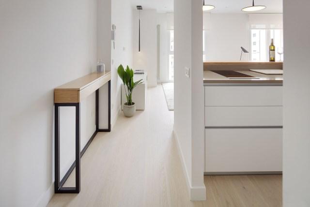 Diseño de concepto abierto en un mini piso