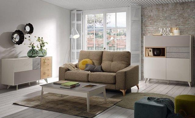 Decoración de salón con muebles personalizados Kibuc