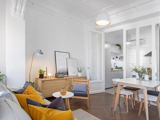 Muebles de salón de estilo nórdico