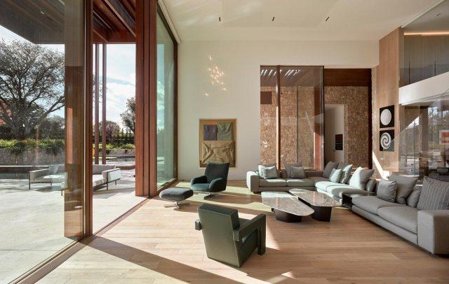 Salón de diseño en casa en La Finca