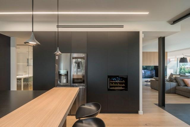 Interiores de casas sorprendentes; cocina de dual skin