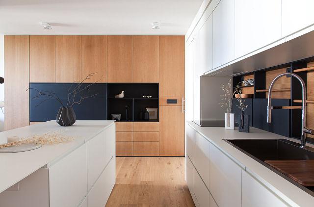 Diseño interior de cocinas en casas modernas