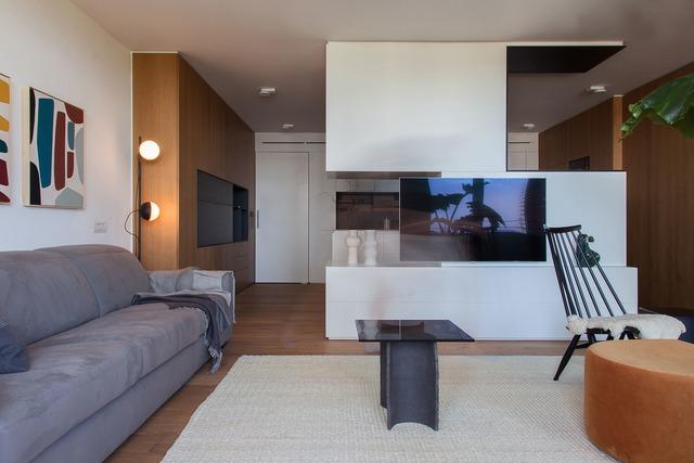 Muebles de salón en diseño de casas modernas