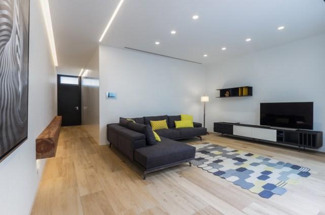 Mobiliario de salón al reformar una casa de pueblo