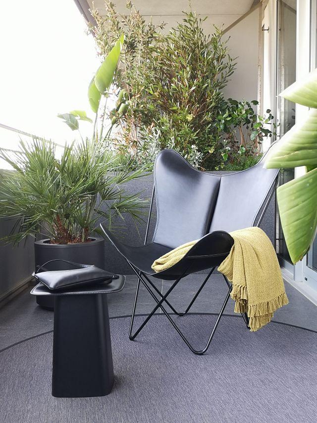 Terraza de diseño en apartamento en Barcelona