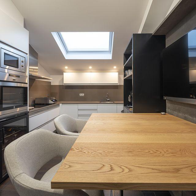 Como decorar la cocina de una casa abuhardillada