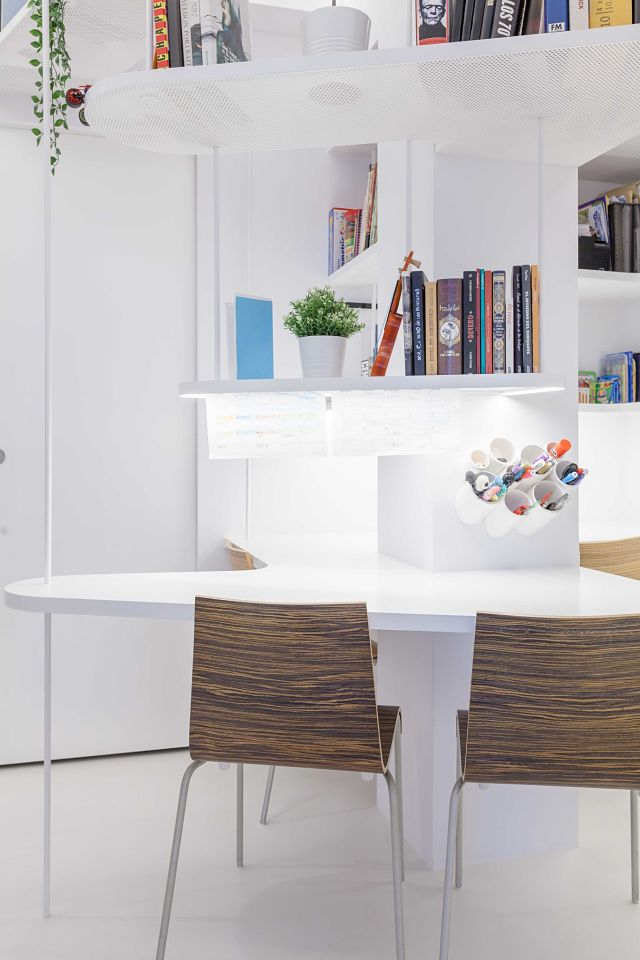 Espacio de trabajo de diseño en casa