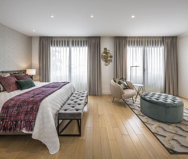 Decoración de dormitorio de diseño