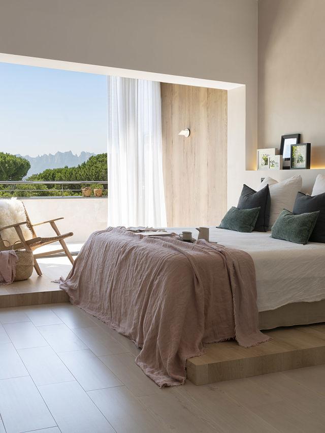 Dormitorio Slow deco del proyecto Dawn house de Susanna Cots