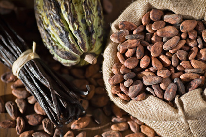 Cacao, feves et cabosse