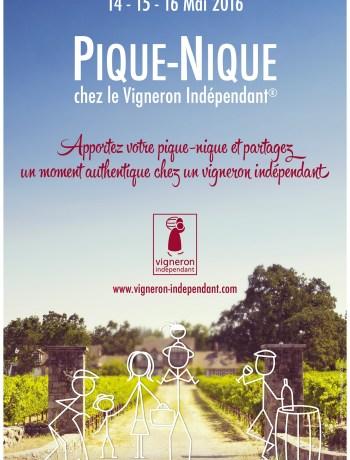 Affiche pique nique vigneron independant 2016 Terroirevasion.com