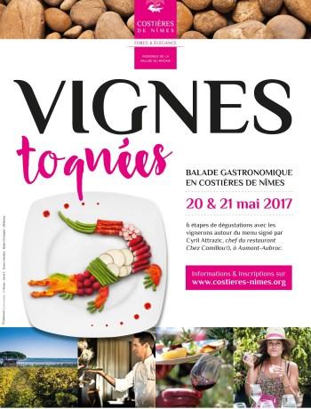 COSTIERES DE NIMES balade gastronomique2017 - affiche
