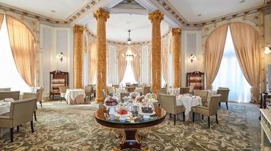 Helene Darroze x salle à manger hotel resto Maria Cristina