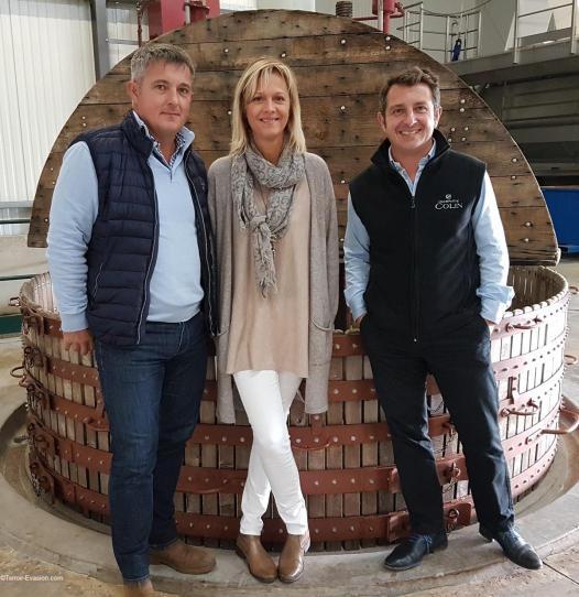 Champagne Colin - Pressoir Coquard et Richard, Delphine et Romain Colin