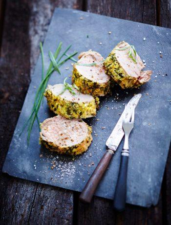 Filet mignon de porc en croûte d'herbes et Fleur de sel
