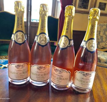 Bligny quatre Bouteilles rosé Champagne