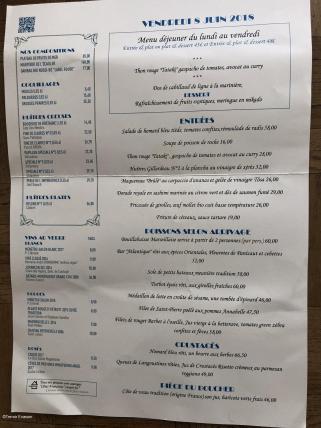 Dome Montparnasse Carte menu_c2i