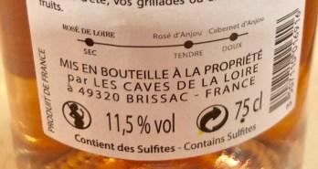 Curseur de sucrosite Cabernet Anjou rosé