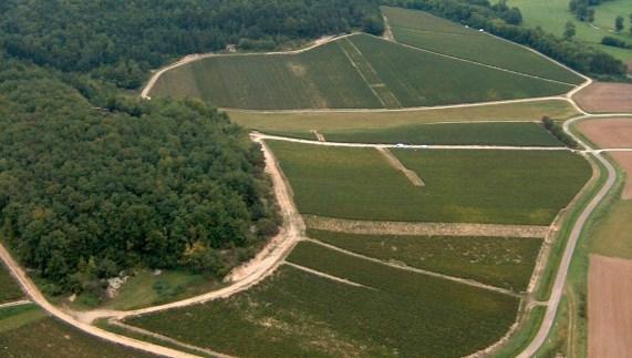 Chassenay d'Arce Champagne vignoble vue du ciel