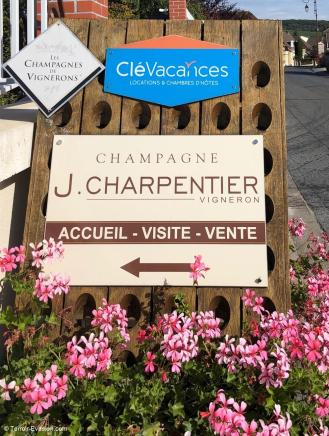 Champagne J.Charpentier - Domaine pancarte