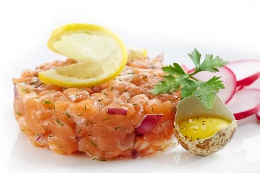Menu de Noël gourmand - Tartare aux deux saumons