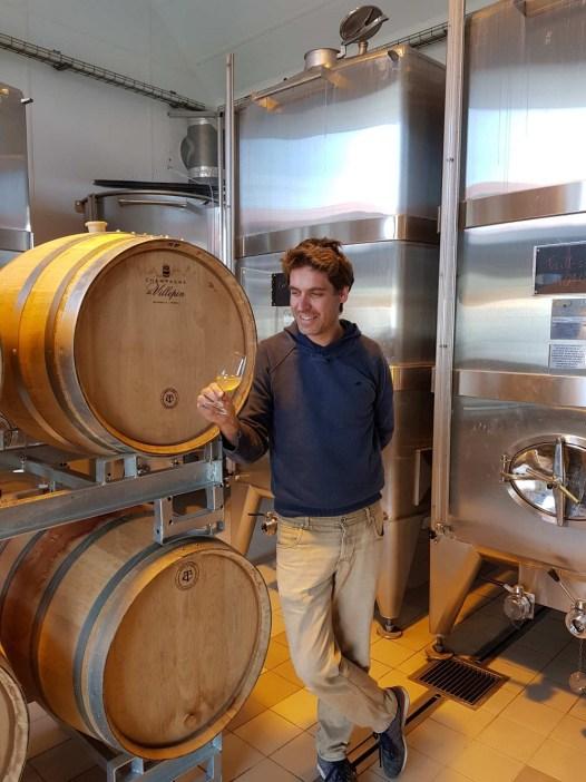 Champagne de Villepin - Bruno de Villepin au chai