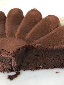 Gâteau chocolat courgette - Part de gâteau