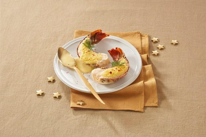 Aldi France un menu de Noël gourmand -Queue_de_langoustes_au_Sabayon_de_champagne