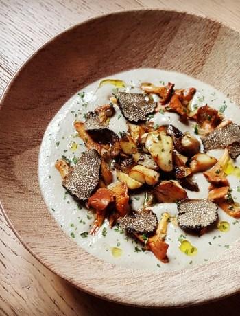 Velouté tout champignons : Champignons de Paris, Girolles, Cèpes Plantin