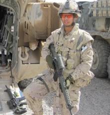 Chris Dare in Afghanistan