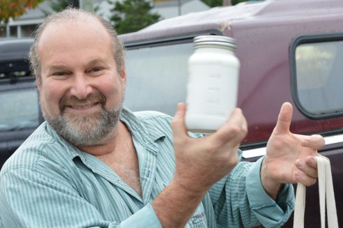 Gary is says Jan's unpasteurized goat yogurt is doing wonders for his health, so he buys it every week--without fail.
