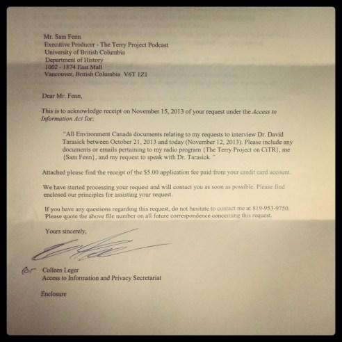 FOI Letter