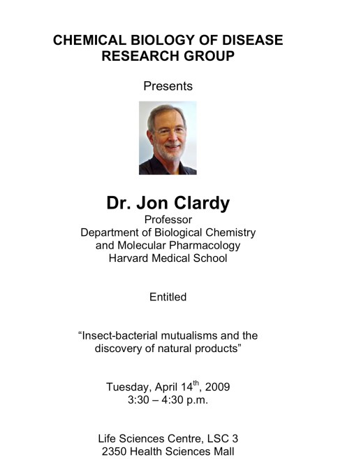 Jon Clardy Talk