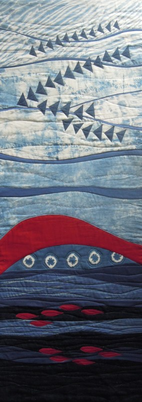 Terry Aske, quilt for Common Threads Indigo project