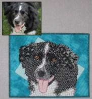 Terry Aske - Border Collie quilt portrait