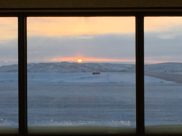 Arrived at Inuvik airport at 1:30pm - just in time to see the sunrise!